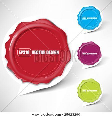 eps10 vector set of balloon icon splat design