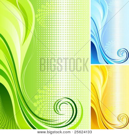 New  !  Swirls with Graphic Background