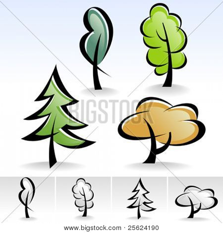 Latest  ! Tree ICON set