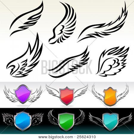 Set Of Wings Vectors