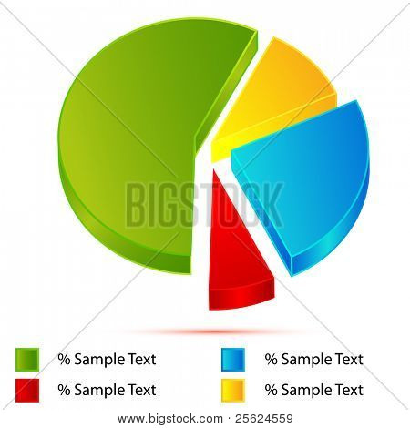 illustration of pie chart on white background