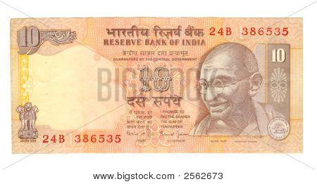 10 Rupee Bill Of India