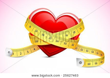 illustration of measuring tape around heart