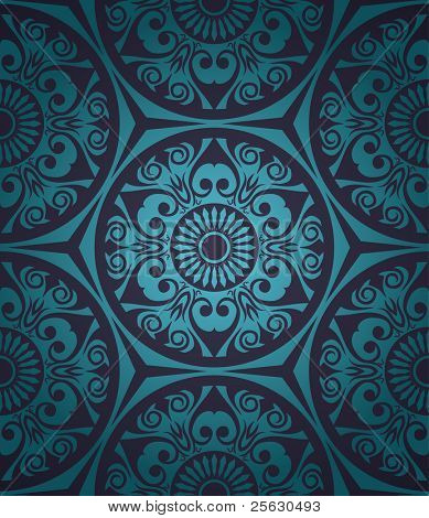 Seamless pattern with gradient background