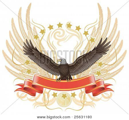Winged Eagle upon The Ribbon