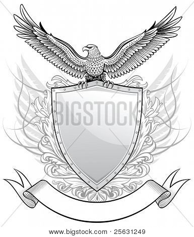 Shield with Eagle Emblem