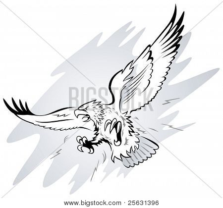Spread Winged Eagle with Claws