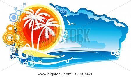 Tropical Coastline Emblem