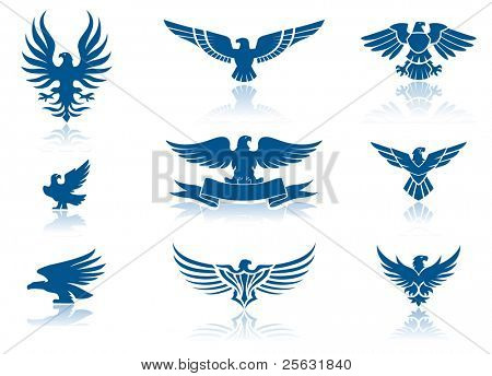 Retro Eagles insignias Set