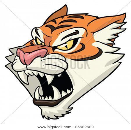 Mascot Tiger roaring