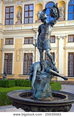 Statue Of Perseus And The Gorgon Medusa In Munich Residence Germany