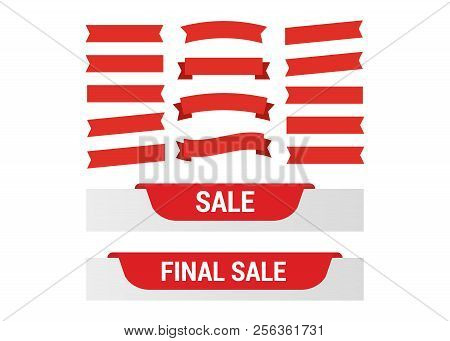 poster of Cartoon Banners And Comic Ribbons. Colored Banner Ribbon. Banner Ribbon Vector Set