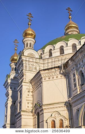 Domes Of Refectory Church Of Kiev Pechersk Lavra
