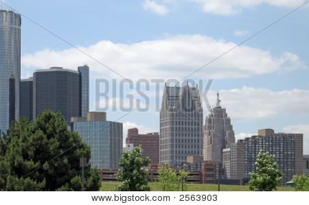 Downtown Detroit From The East
