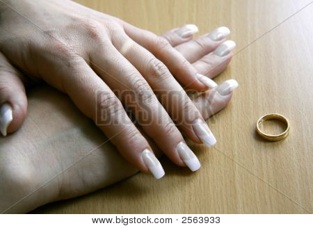 Female Hands After A Divorce