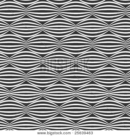 Horizontal, vector, wavy pattern