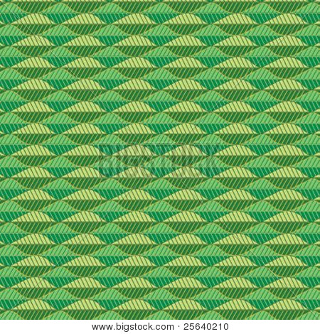A triangular, green vector pattern