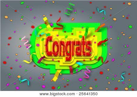 vector congrats