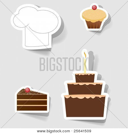 Set of icons for commercial restaurants and cafes