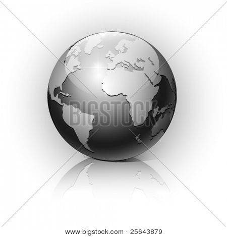 Globe on a white background. Vector illustration. Eps10.