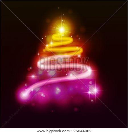 Peles-árvore de Natal. Ilustração vetorial. Eps10