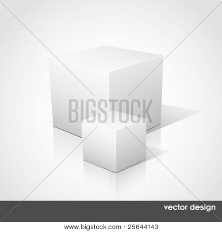 Cube on a white background. Vector illustration.