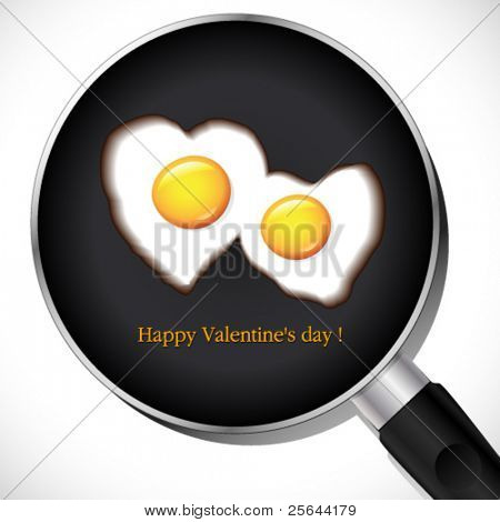 Fried Egg.Valentine's day