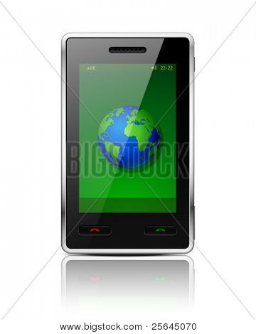 Mobile phone - original design. Vector illustration. Eps 10.