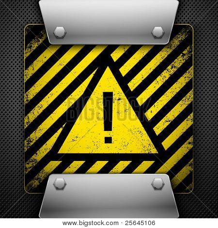 Warning Symbol. Vector illustration.