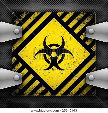 Bio-hazard sign. Vector illustration.