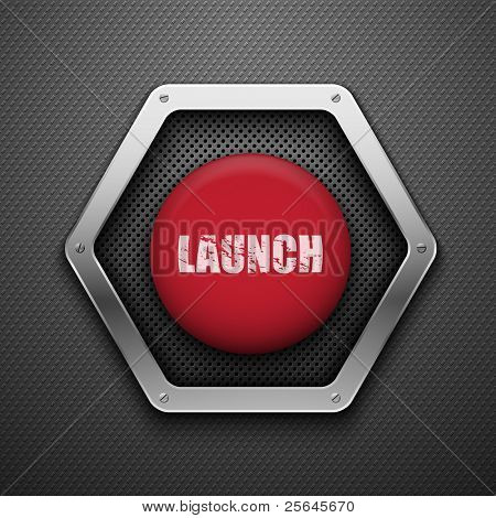 Launch button. Vector background. Eps10