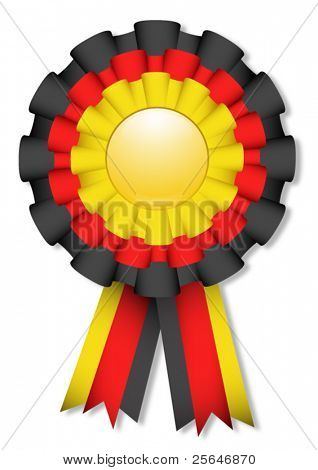 Yellow, red and black cockade, vector illustration