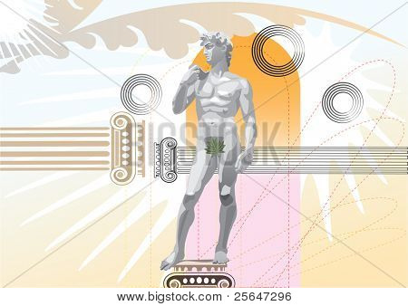 illustration of statue of David