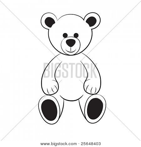 Bear Teddy.Vector