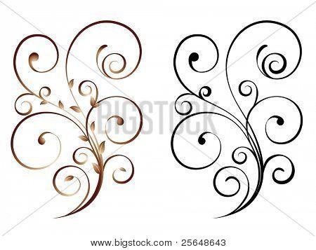 Floral. Vector illustration.