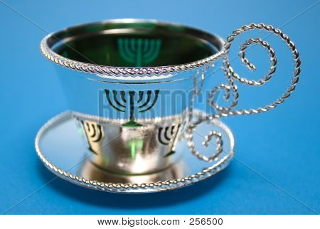 Menorah Cup And Saucer