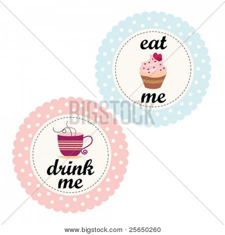 Alice In Wonderland Labels