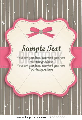 Romantic Pink Retro Card