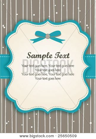 Romantische Blue Retro-Card
