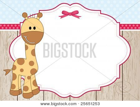 Cute giraffe frame