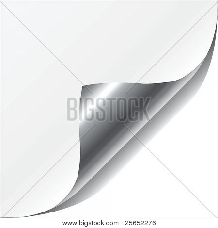 vector illustration white page corner