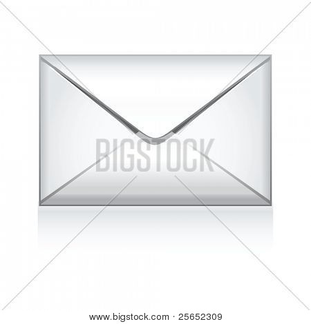 e mail vector icon isolated on white