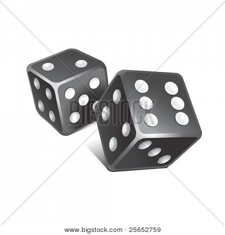 Vector black dice.