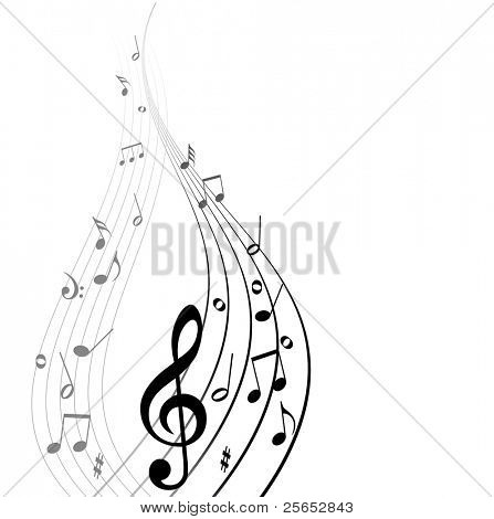 Abstract vector musical background