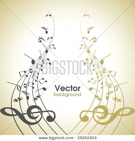 Abstract musical background.Music Note.