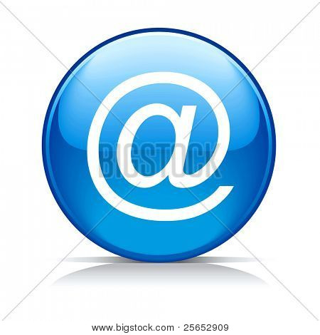 Vector blue e-mail internet icon button