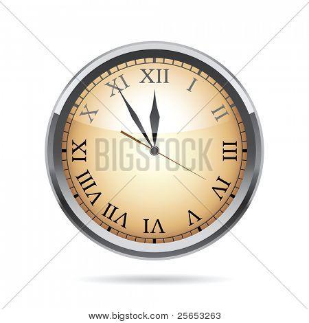 Ilustración del vector de un reloj.