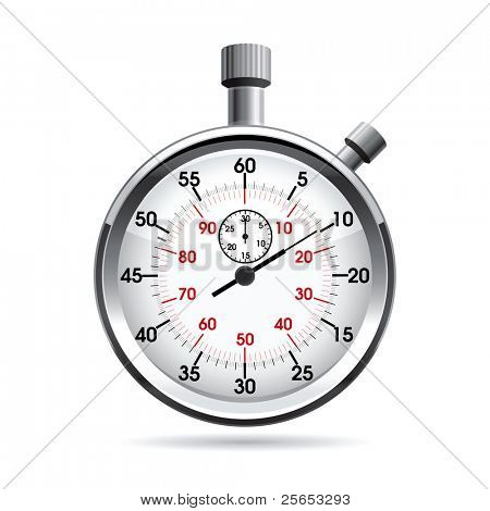 Vector illustration of stop watch.