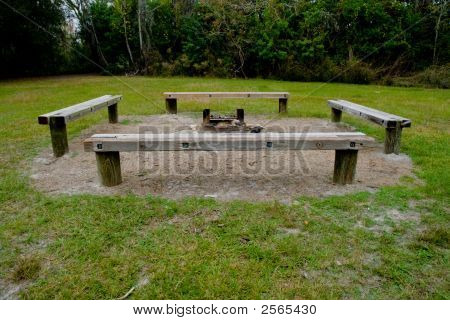 Fire Ring With Benches