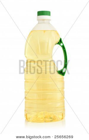 Vegetable Oil In Plastic Bottle